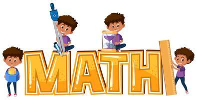 Garoto e matemática ícone vetor
