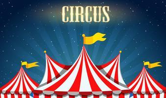 Uma borda de circo em branco vetor