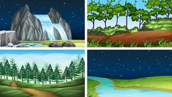 Conjunto de paisagem natural