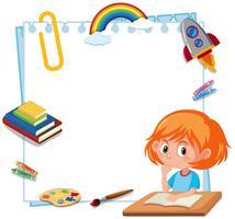 Um quadro de ferramentas de escola de estudante vetor