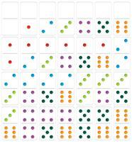 Conjunto de dominó branco vetor
