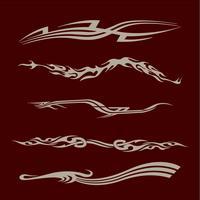 Gráficos de veículo de corrida de motocicleta de carro, vinis tribais e decalques