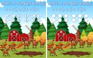 Faça uma família numerada