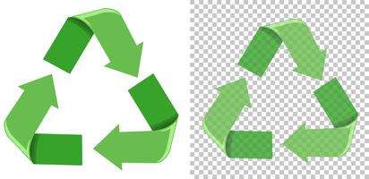 Conjunto de ícone verde reciclar vetor