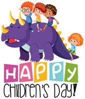 Ícone do dia das crianças felizes vetor