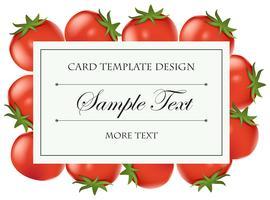 Modelo de cartão com tomates frescos vetor