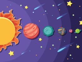 Conjunto de sistema solar vetor