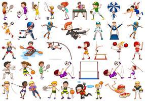 Conjunto de caractere de esporte vetor