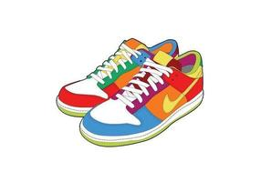 Sapatos esportivos vetor