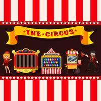 Conceito de circo com barracas vetor
