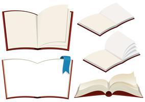 Conjunto de livro no fundo branco vetor