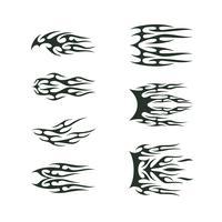 conjunto de coleta tribal tatto. projeto de ilustração vetorial totem de tatoo chama vetor