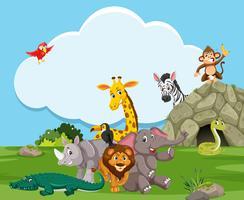 Animal selvagem na natureza vetor