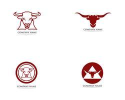 Modelo de logotipo e símbolos de chifre de touro