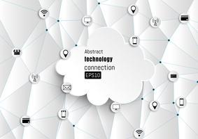Rede de tecnologia. Fundo de crescimento. vetor