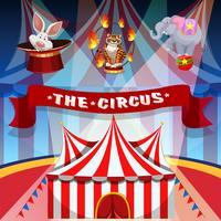 O cartaz do conceito de circo vetor