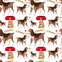 Um, cão, seamless, padrão vetor