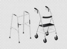 Walker com rodas para anciãos