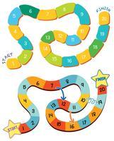 Conjunto de modelo de jogo de tabuleiro