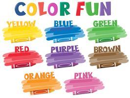 Um conjunto de lápis de cor vetor