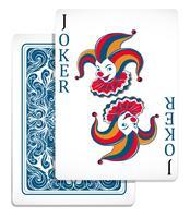 Joker cartão de design original vetor