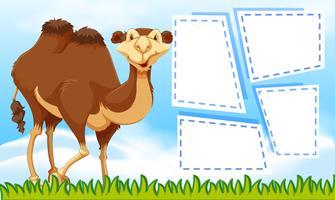 Camelo no modelo de nota vetor