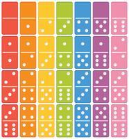 Conjunto de dominó colorido vetor