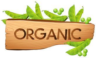 Sinal orgânico, com, greenpeas vetor
