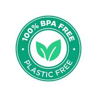100% livre de BPA. 100 por cento de plástico livre. vetor