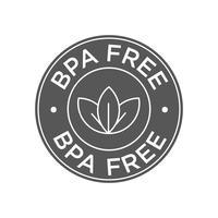 Livre de BPA. 100% ícone biodegradável e compostável. vetor
