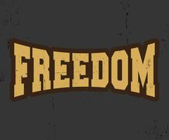 Selo vintage de liberdade