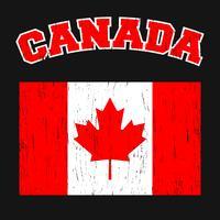 T-shirt do vintage de Canadá