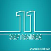 11 de setembro cartão vetor
