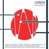 Brochura de capa de geometria