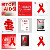 Definir cartaz de AIDS vetor