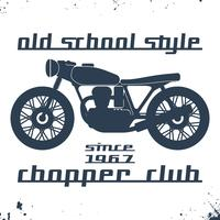 Carimbo de moto vintage
