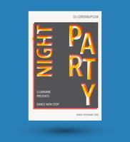Folheto de festa de capa vetor