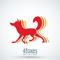 Modelo de logotipo de raposa vetor