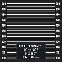 Fundo de mugshot policial vetor