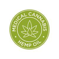 Ícone de óleo de cânhamo. Cannabis Medicinal. vetor