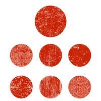 Conjunto grunge círculo vetor