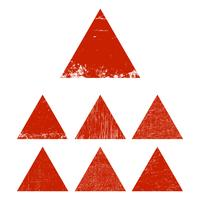 Conjunto de triângulo do grunge vetor