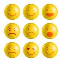 Conjunto de emoticons Emoji vetor