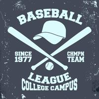 Selo da liga de beisebol vetor
