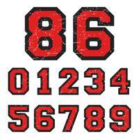 Selo de números vintage