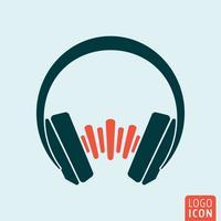 Onda sonora de fones de ouvido vetor