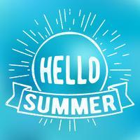 Olá carimbo de verão