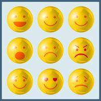 Definir ícones de emoji vetor