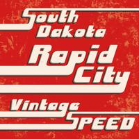 Selo vintage de cidade rápida vetor