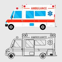 Carro de ambulância isolado